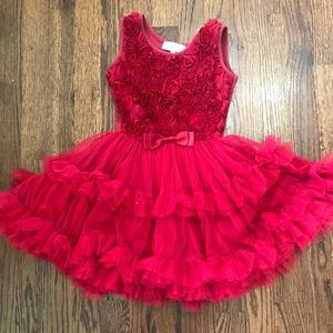 Popatu Rosette ams Tulle Twirl Dress 4-5T